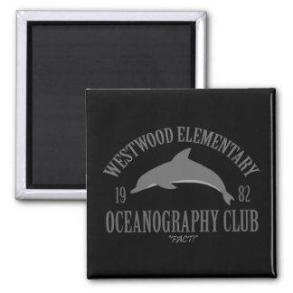 Club de la oceanografía imán cuadrado