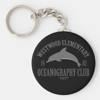 Club de la oceanografía llavero redondo tipo pin