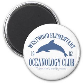 Club de la oceanología imán para frigorífico