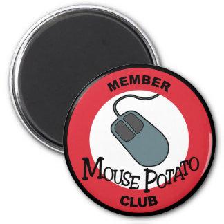 Club de la patata del ratón imán redondo 5 cm