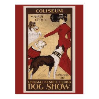 Club de la perrera de Chicago Tarjeta Postal