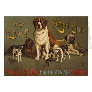 Club de la perrera de Nueva Inglaterra Tarjeta De Felicitación