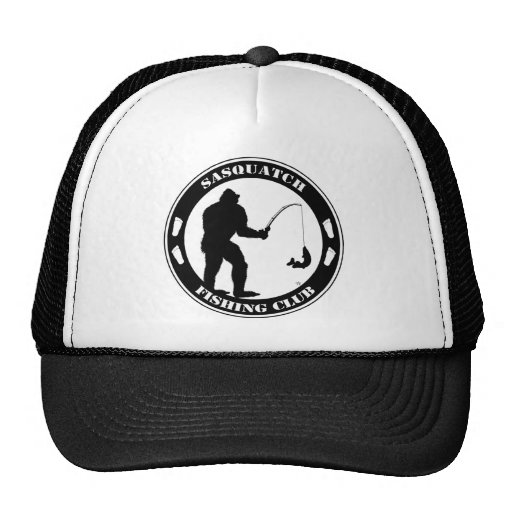 Club de la pesca de Sasquatch Gorros