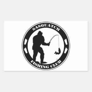 Club de la pesca de Sasquatch Pegatina Rectangular