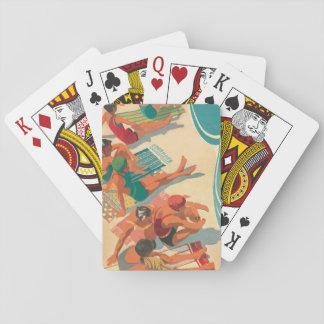 Club de la playa del paraíso cartas de póquer