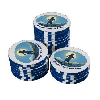 Club de la resaca del punto de la beluga juego de fichas de póquer