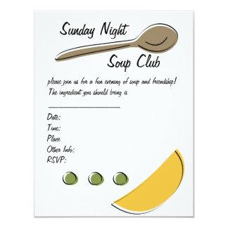 """Club de la sopa invitación 4.25"""" x 5.5"""""""