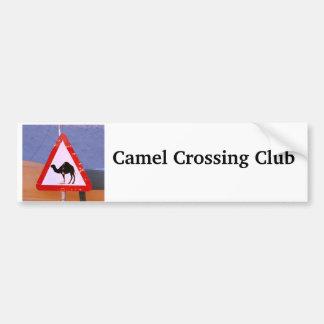Club de la travesía del camello pegatina de parachoque