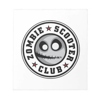 Club de la vespa del zombi libretas para notas