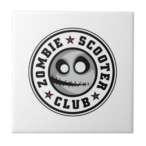 Club de la vespa del zombi teja  ceramica