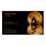 club de la yoga tarjetas de visita