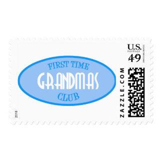 Club de las abuelas de la primera vez (azul) sellos postales