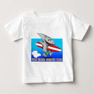 Club de las personas que practica surf del tiburón playera de bebé
