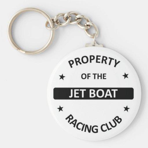 Club de las regatas del jet llavero redondo tipo pin