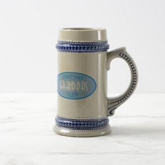 Club de los abuelos de la primera vez (azul) jarra de cerveza