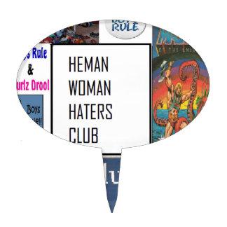 club de los enemigos de mujer del heman figuras para tartas