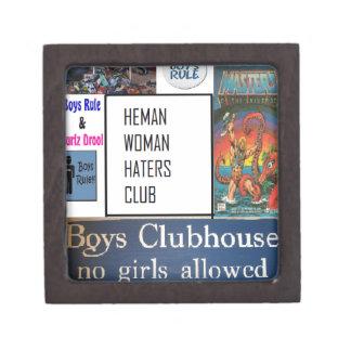 club de los enemigos de mujer del heman cajas de joyas de calidad