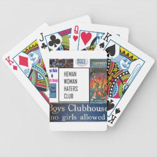 club de los enemigos de mujer del heman baraja cartas de poker