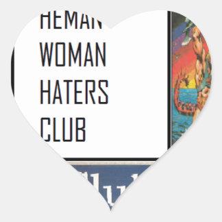 club de los enemigos de mujer del heman calcomania de corazon personalizadas
