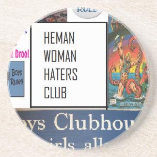 club de los enemigos de mujer del heman posavasos manualidades