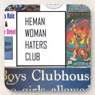 club de los enemigos de mujer del heman posavasos de bebida