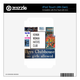 club de los enemigos de mujer del heman iPod touch 4G skins