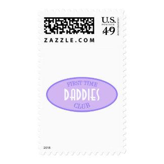 Club de los papás de la primera vez (púrpura) sellos