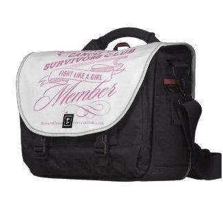 Club de los supervivientes del cáncer de pecho bolsas para portátil