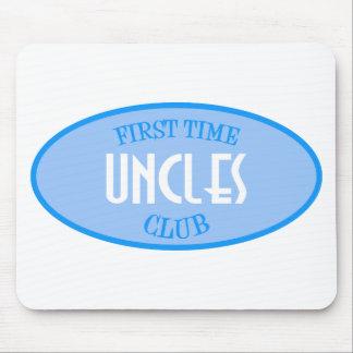Club de los tíos de la primera vez azul tapetes de ratón