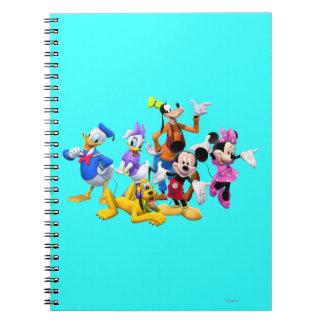 Club de Mickey Mouse Libretas Espirales