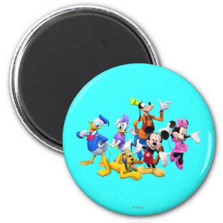 Club de Mickey y de los amigos el | Imán Redondo 5 Cm