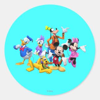 Club de Mickey y de los amigos el   Pegatina Redonda