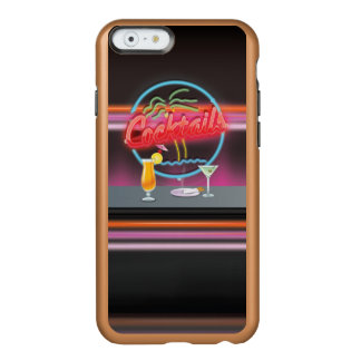 Club de noche retro de los cócteles funda para iPhone 6 plus incipio feather shine