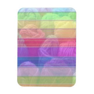 Club de punto - bolas de lana del arco iris iman flexible