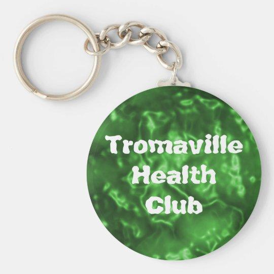 Club de salud de Tromaville Llavero Redondo Tipo Pin