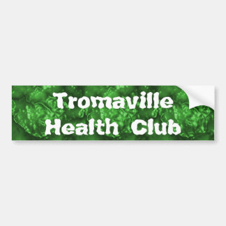 Club de salud de Tromaville Pegatina Para Auto