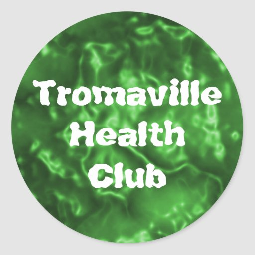 Club de salud de Tromaville Pegatina Redonda