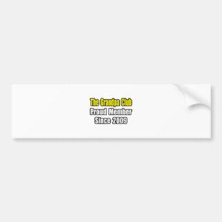 Club del abuelo… desde 2009 pegatina de parachoque