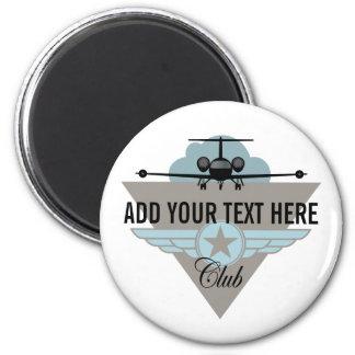 Club del ala del aeroplano del jet imán