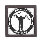 Club del arma de Bigfoot Cajas De Joyas De Calidad