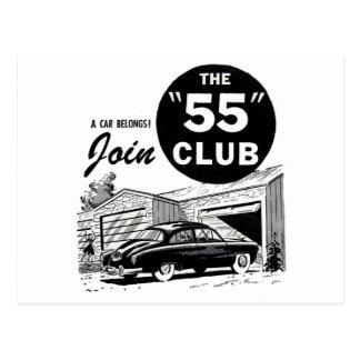 Club del auto retro '55 del vintage tarjetas postales
