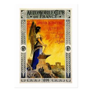 Club del automóvil de Francia 1899 Postal