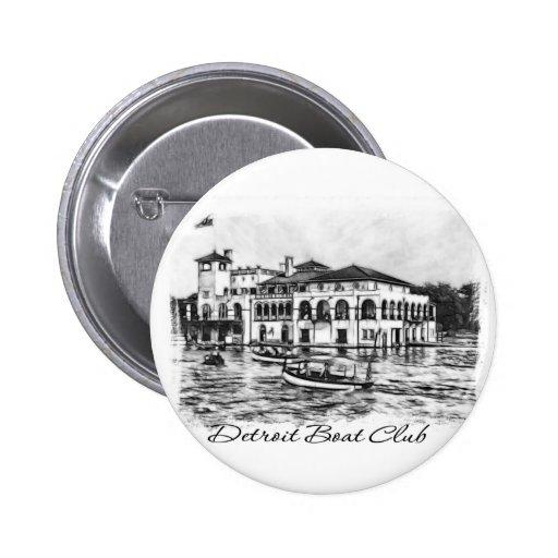 Club del barco de Detroit Pins
