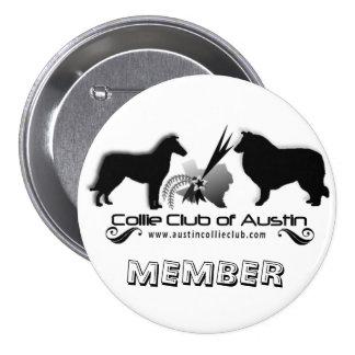 Club del botón del logotipo de Austin - miembro de Pins