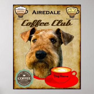 Club del café de Airedale Terrier Póster
