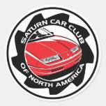 """Club del coche de Saturn de Norteamérica 3"""" Pegatinas Redondas"""