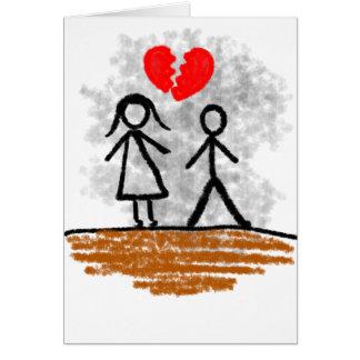 Club del corazón quebrado tarjeta de felicitación