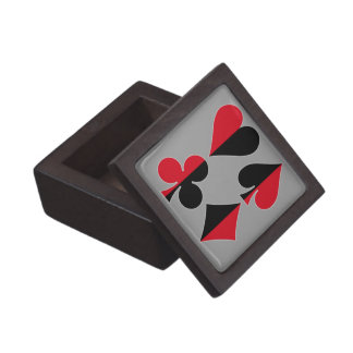 Club del diamante de la espada del corazón cajas de joyas de calidad