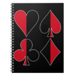 Club del diamante de la espada del corazón libro de apuntes