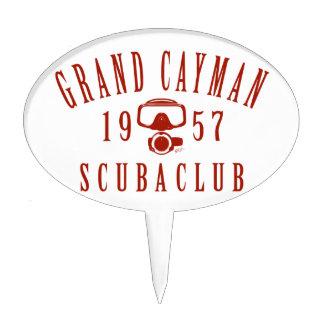Club del equipo de submarinismo de Gran Caimán Decoración Para Tarta